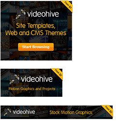 Example VideoHive referral banners